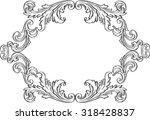 orient acanthus art vintage... | Shutterstock .eps vector #318428837