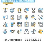 Trendy flat line icon pack for designers and developers. Icons for business, marketing, management, strategy, planning, analytics, finance, market research, for websites and mobile websites and apps.  | Shutterstock vector #318432113