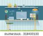 work table | Shutterstock .eps vector #318433133