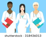 three young women of different... | Shutterstock .eps vector #318436013