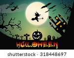 halloween design background... | Shutterstock . vector #318448697