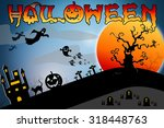 halloween design background... | Shutterstock . vector #318448763
