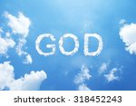 """clouds word as """"god"""" in capital ... 