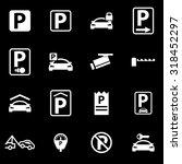 vector white parking icon set. | Shutterstock .eps vector #318452297