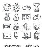 soccer line icons | Shutterstock . vector #318453677