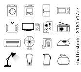 set of home appliances. | Shutterstock .eps vector #318454757