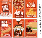 fast food poster design set  ...