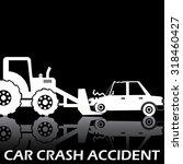 white shape car crash with... | Shutterstock .eps vector #318460427