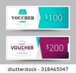 gift voucher card. business... | Shutterstock .eps vector #318465047