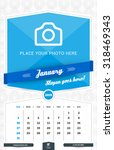 january 2016. wall monthly...   Shutterstock .eps vector #318469343