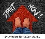 "inspiration quote   "" start now""... | Shutterstock . vector #318480767"