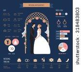 wedding infographics | Shutterstock .eps vector #318483803