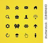 webdesign icons universal set... | Shutterstock . vector #318484643
