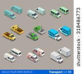flat 3d isometric high quality... | Shutterstock .eps vector #318486773
