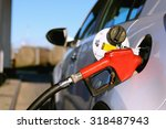 gun petrol in the tank to fill | Shutterstock . vector #318487943