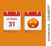 vector illustration of calendar ... | Shutterstock .eps vector #318488597