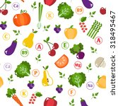 bright vegetable set in flat... | Shutterstock . vector #318495467