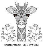 Zentangle Giraffe Head For...