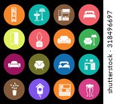 set of sixteen interiors icons | Shutterstock .eps vector #318496697