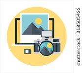 camera  computer art theme ... | Shutterstock .eps vector #318505433