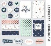 set of vintage creative cards ... | Shutterstock .eps vector #318506597