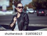 female beauty concept. portrait ... | Shutterstock . vector #318508217