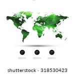 geometric world map | Shutterstock .eps vector #318530423