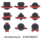 labels and ribbons vector set.... | Shutterstock .eps vector #318538607