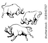 Bull Sign Or Emblem Set....