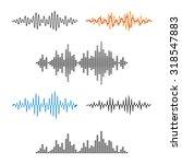 waveform shape. sound wave.... | Shutterstock .eps vector #318547883