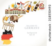 welcome to germany background    Shutterstock .eps vector #318550493