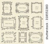 graphic design linear monogram... | Shutterstock .eps vector #318552383