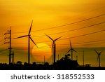 the wind turbine generator the... | Shutterstock . vector #318552533