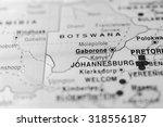 map view of gaborone  botswana. | Shutterstock . vector #318556187