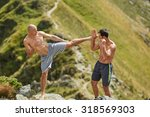 kickboxers or muay thai... | Shutterstock . vector #318569303
