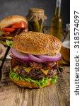 american rustic bacon burger...