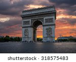 arch of triumph with dramatic... | Shutterstock . vector #318575483