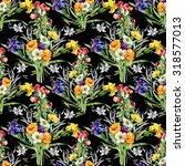 watercolor seamless pattern on... | Shutterstock . vector #318577013