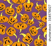 seamless halloween pattern ... | Shutterstock .eps vector #318578027