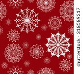 seamless snowflakes pattern....   Shutterstock .eps vector #318589217