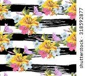 vector seamless floral hand... | Shutterstock .eps vector #318592877