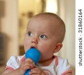 portrait of cute little...   Shutterstock . vector #31860164