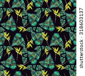 seamless pattern with tropical... | Shutterstock . vector #318603137