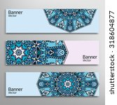 graphic trendy banners set.... | Shutterstock .eps vector #318604877