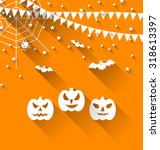illustration halloween paper... | Shutterstock . vector #318613397