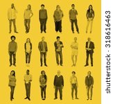 diverse people happiness... | Shutterstock . vector #318616463