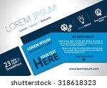 vector brochure  flyer ... | Shutterstock .eps vector #318618323