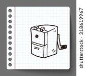 doodle pencil sharpeners | Shutterstock .eps vector #318619967