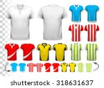 collection of various soccer... | Shutterstock .eps vector #318631637