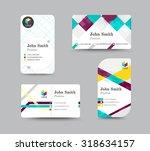 corporate business card.... | Shutterstock .eps vector #318634157